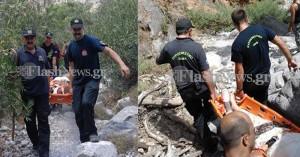 Επιχείρηση διάσωσης 45χρονης στο φαράγγι της Αράδαινας