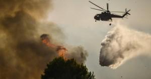 Πυρκαγιά στον Μακρύ Γυαλό της Ιεράπετρας