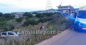 Σοβαρό τροχαίο ατύχημα με έναν τραυματία στη Λαμία (φωτο)