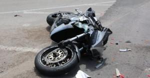 Μηχανή εξετράπη σε τροχαίο ατύχημα στον ΒΟΑΚ