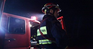 Πυρκαγιά σε δύο τροχόσπιτα στη Χαλκιδική