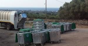 Δήμος Σφακίων: Ανανέωση των κάδων απορριμμάτων