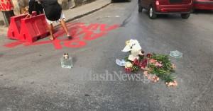 Χανιά: Έστησε οδοφράγματα και λουλούδια στη μέση του δρόμου του θανατηφόρου