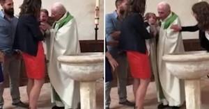 Ιερέας χαστουκίζει βρέφος… γιατί δεν σταματούσε να κλαίει