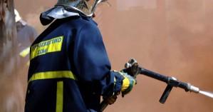 Πυρκαγιά σε χώρο με ανακυκλώσιμα υλικά στην Σητεία