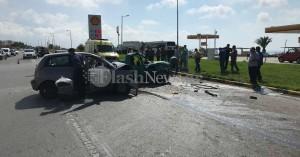 Σφοδρή σύγκρουση οχημάτων στον Λατζιμά - Στο νοσοκομείο δύο άτομα (φωτο)