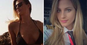 Η ξανθιά καλλονή που άφησε την κομμωτική για να γίνει πιλότος