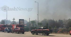 Συναγερμός από μεγάλη φωτιά στο Καλάμι - Οι πρώτες εικόνες από το σημείο