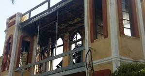 Ολοσχερής η καταστροφή του Πολεμικού Μουσείου στα Χανιά - Βίντεο από ψηλά
