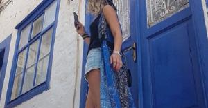 Η Μελίνα Ασλανίδου περνάει όμορφα στα Χανιά και το δείχνει (φωτο)