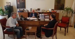 Συνάντηση Δημάρχου Ηρακλείου Βασίλη Λαμπρινού με τον Πρέσβη της Ταϊβάν
