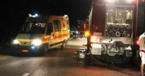Αυτοκίνητο ενώ κινείτο στον ΒΟΑΚ έπεσε από γέφυρα - Εγκλωβίστηκε ο οδηγός