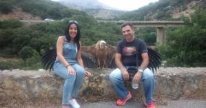 Διψασμένος για νερό γυπαετός, ποζάρει σαν σταρ στην Κρήτη (φωτο-βίντεο)