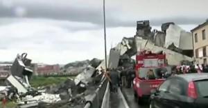 Δέκα έως είκοσι οι αγνοούμενοι από την κατάρρευση της γέφυρας στη Γένοβα