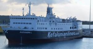 Πρόσκρουση του «Alexandra L» στο λιμάνι της Ζακύνθου
