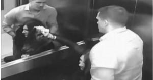 Προσπαθεί μάταια να ξεφύγει απ'τον δολοφόνο σύζυγό της στο ασανσέρ (βίντεο)