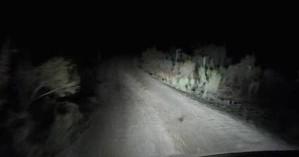 Στα τυφλά το βράδυ η διαδρομή προς Ελαφονήσι