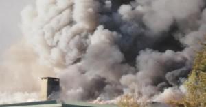 Μεγάλη φωτιά σε χώρο του Πανεπιστημίου Κρήτης (φωτο - βίντεο)