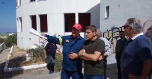 Στον τόπο της φωτιάς στο Πανεπιστήμιο Κρήτης ο βουλευτής Λ. Αυγενάκης