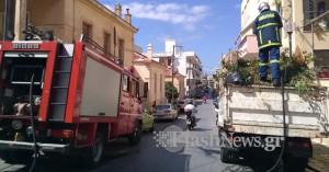 Πυρκαγιά σε φορτηγό της ΔΕΔΙΣΑ στην πόλη των Χανίων (φωτο)