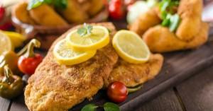 Σνίτσελ κοτόπουλου στο φούρνο