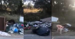 Ένας απέραντος σκουπιδότοπος κοντά σε σχολείο στα Χανιά (βίντεο)