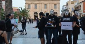 Στα Χανιά οι Anonymous for the Voiceless (φωτο)