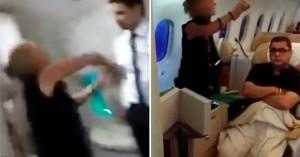Μεθυσμένη γυναίκα σε αεροπλάνο έφτυσε αεροσυνοδό