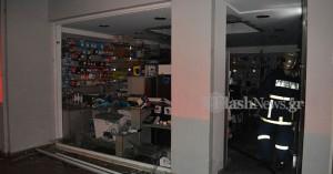 Αναστάτωση στο κέντρο των Χανίων από πυρκαγιά σε επιχείρηση (φωτο)