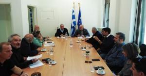 Σύσκεψη στα Σφακιά για έργα της Περιφέρειας Κρήτης