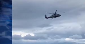Σοκαριστικό βίντεο με ελικόπτερο που το παρέσυραν άνεμοι πάνω απ'το Αίγιο