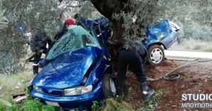 Τροχαίο δυστύχημα για οικογένεια στην Αργολίδα με ένα νεκρό (φωτο)