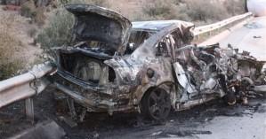 Τραγωδία στην Εγνατία Οδό: 3 άνθρωποι κάηκαν ζωντανοί σε τροχαίο (φωτο)