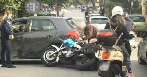 Μια ακόμη μοτοσικλέτα «έπεσε» στην άσφαλτο στα Χανιά (φωτο)