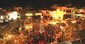 Φωταγώγηση  Χριστουγεννιάτικου Δένδρου  στην Έδρα του Δήμου Πλατανιά