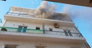 Φωτιά σε σπίτι - Δύο άνθρωποι στο νοσοκομείο (φωτο+βιντεο)