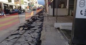 Ξεκίνησε η δημιουργία πεζοδρομίων στην οδό Αποκορώνου