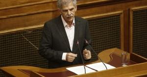 Δανέλλης: Δίνω ψήφο εμπιστοσύνης αλλά δεν προσχωρώ στον ΣΥΡΙΖΑ