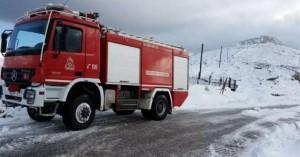 Ασθενείς πήγαν στο νοσοκομείο Ρεθύμνου με όχημα της Πυροσβεστικής