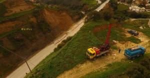 Η γεώτρηση στο ΒΟΑΚ από drone (φωτο+βιντεο)