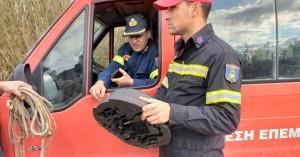 Στην παραλία που εκβάλλει ο Γεροπόταμος, βρέθηκε εξάρτημα του αυτοκινήτου με τα 4 άτομα