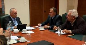 Συνάντηση του Δημάρχου Ιεράπετρας με τον Aντιπρόεδρο της Kυβέρνησης