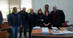 Συνάντηση μελών του ΕΣΧ και της ΟΕΒΕΝΧ με την προϊσταμένη της εφορίας
