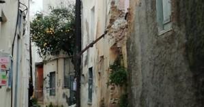 Κατάρρευση σε εγκαταλελειμμένο κτίριο στο κέντρο του Ηρακλείου
