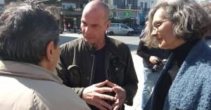 Στα Χανιά βρίσκεται ο Γιάνης Βαρουφάκης στο πλαίσιο περιοδείας (φωτο)