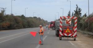 Εργασίες ασφαλτόστρωσης στην οδό Κριμπά