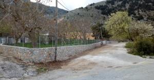 Εργασίες αποκατάστασης της τοιχοποιίας στην Ίμπρο