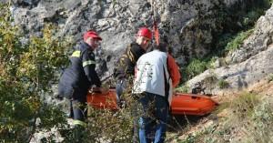 Επιχείρηση διάσωσης τραυματισμένης γυναίκας
