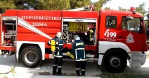 Φωτιά σε αποθήκη στο Ηράκλειο