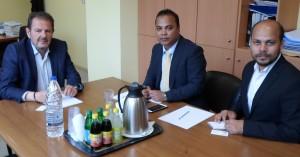 Εθιμοτυπική επίσκεψη του συμβούλου της πρεσβείας του Μπαγκλαντές στο ΕΒΕΡ
